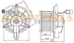 Мотор отопителя салона JEEP GRAND CHEROKEE 05-/COMMANDER 06-