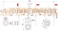 Шланг тормозной передний (Таиланд) SUZUKI ESCUDO/GRAND VITARA 05- RH