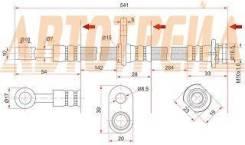 Шланг тормозной передний (Таиланд) SUZUKI ESCUDO/GRAND VITARA 05- LH