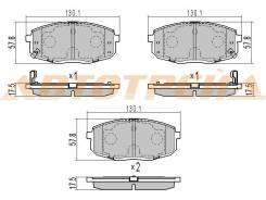 Колодки тормозные FR HYUNDAI CRETA 15-/I30 07-/KIA CEED 07-12