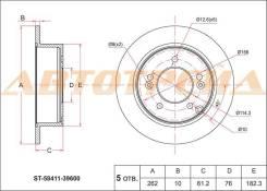 Диск тормозной зад HYUNDAI SONATA NF/TUCSON MJ 04-10/KIA SPORTAGE JE 04-10