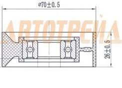Ролик натяжителя приводного ремня SSANG YONG ACTYON/KYRON/REXTON 2,0D 01- ST-6652000170