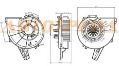 Мотор отопителя салона VW POLO SEDAN 10-/SKODA FABIA / ROOMSTER 07-/RAPID 13-/SEAT IBIZA 09-