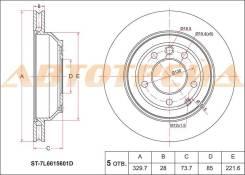Диск тормозной зад AUDI Q7 06-10/VW TOUAREG 02-10/PORSCHE CAYENNE 02-10