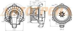 Мотор отопителя салона toyota corolla #ze15# 06-/rav4 ##a3# 05-/rav4 ##a4# 13-/prius zvw3# 09-(lhd)