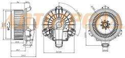 Мотор отопителя салона TOYOTA CAMRY ##V40/##V50 /HIGHLANDER/KLUGER 07-/VENZA 08-/ALPHARD 10-/LEXUS R