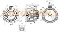 Мотор отопителя салона TOYOTA HARRIER ##U3# 06-13/LEXUS RX300/330/350/400H 03-08 (LHD) ST-87103-48040