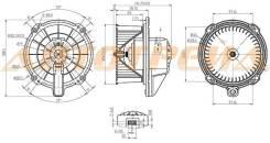 Мотор отопителя салона ISUZU ELF NKR/NPR 93-03 24V RHD