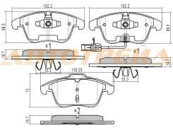 Колодки тормозные FR AUDI A4 04-08 A6 05-11, правый передний