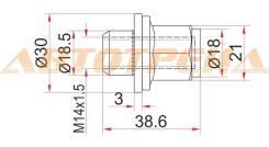 Гайка колесная TOYOTA LAND CRUISER 100/200/LEXUS LX470/LX570 SEQUOIA/TUNDRA 99-