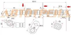 Шланг тормозной задний (Таиланд) TOYOTA CAMRY/GRACIA/MARK2 QUALIS/WINDOM/LEXUS ES300 96-01 LH