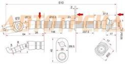 Шланг тормозной задний (Таиланд) TOYOTA CAMRY GRACIA/HARRIER/HIGHLANDER/KLUGER/MARK2 QUALIS/LEXUS RXST-90947-02970
