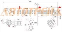 Шланг тормозной задний (Таиланд) TOYOTA CAMRY GRACIA/HARRIER/HIGHLANDER/KLUGER/MARK2 QUALIS/LEXUS RXST-90947-02971