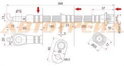 Шланг тормозной передний (Таиланд) TOYOTA BB/CARGO/IST/PLATZ/PORTE/PROBOX/RAUM/VITZ/WILL/YARIS RH