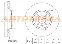 Диск тормозной FR OPEL ASTRA H/ MERIVA A 03-10