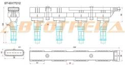 Катушка зажигания OPEL ASTRA A/H/G 04-09/CORSA C/D 03-/SUZUKI WAGON R 04-08/RENAULT SANDERO 09-/Z12/