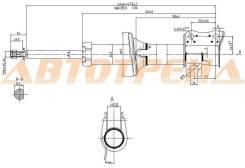 Стойка передняя CHEVROLET/DAEWOO MATIZ/SPARK 98-05 LH