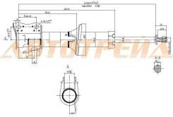 Стойка передняя CHEVROLET/DAEWOO MATIZ/SPARK 98-05 RH