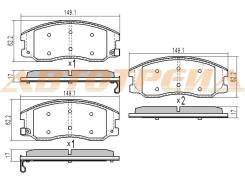 Колодки тормозные FR CHEVROLET CAPTIVA C100/OPEL ANTARA 06-