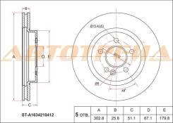 Диск тормозной перед MERCEDES ML W163 98-05