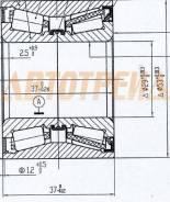 Подшипник RR ступицы FORD FOCUS 98-05/MAZDA 2/DEMIO/VERISA 02-