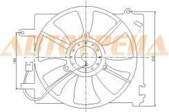 Диффузор радиатора в сборе DAEWOO MATIZ /CHEVROLET SPARK 01-