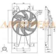 Диффузор радиатора в сборе FORD FUSION/FIESTA 2001-2008/MAZDA 2 2002-