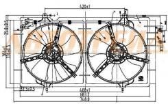 Диффузор радиатора в сборе LIFAN SOLANO 10-