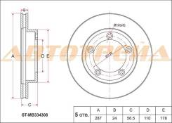 Диск тормозной передний MITSUBISHI Canter FB51#, 568, 637, 668, FE51,53 ST-MB334308