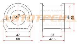 Втулка переднего стабилизатора D=29 MMC PAJERO 99-