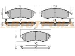 Колодки тормозные FR MITSUBISHI L200 01-07