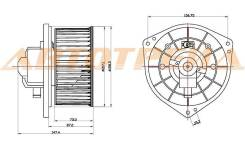Мотор отопителя салона MITSUBISHI LANCER 00-/AIRTREK/OUTLANDER 01- (LHD)