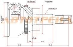Шрус наружный LEXUS RX330/350 2GR/TOYOTA HIGHLANDER MCU23 3MZ TO-205A48