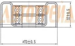 Обводной ролик приводного ремня NISSAN NAVARA 04-/PATHFINDER 05-