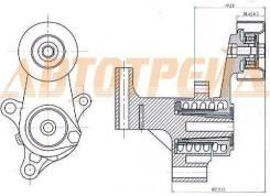 Натяжитель приводного ремня TOYOTA 1/2TRFE 02- (90916-02640)