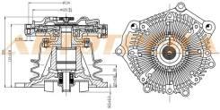 Вискомуфта в сборе с помпой TD27Ti/QD32Ti TERRANO 50/ELGRAND 50(подходит крыльчатка ST-21060-43G00)