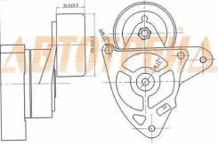 Натяжитель приводного ремня HONDA ACCORD VII 03-/CR-V II-III 2,0-2,4 02-/CIVIC 01-05/STREAM 2,0 01-