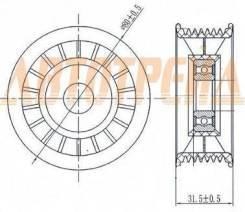 Обводной ролик приводного ремня HONDA ACCORD 08-/CR-V 07-/STEPWGN 05-/STREAM 06-
