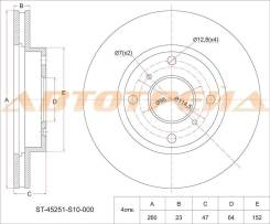 Диск тормозной передний HONDA CR-V RD1 AT 95-, Accord/Torneo CF3 F18B