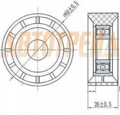 Обводной ролик приводного ремня RENAULT LOGAN 04-/SANDERO 09-