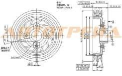 Шкив коленвала MITSUBISHI DELICA/L300 двиг. 4D56 (2 ручейка) 86-94