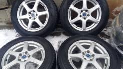 """Отличная зима Dunlop 225/65 R17 на стильном литье Bridgestone FEID. 7.0x17"""" 5x114.30 ET38"""