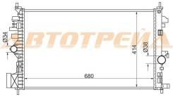 Радиатор OPEL INSIGNIA 1.6/1.8 (бензин) 08-