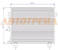 Радиатор кондиционера CHERY TIGGO 05- ST-CH01-394-0
