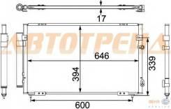 Радиатор кондиционера LEXUS GS 300/TOYOTA ARISTO 98-05