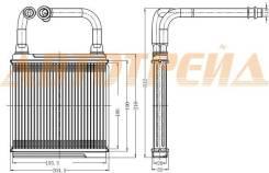 Радиатор отопителя салона MERCEDES E-CLASS W 211 02-/CLS-CLASS W 219 04-