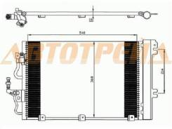 Радиатор кондиционера OPEL ASTRA H 1.4/1.6/1.8 04-11/OPEL ZAFIRA B 1.6/1.8 05-