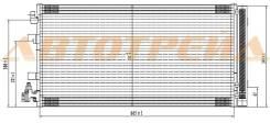 Радиатор кондиционера RENAULT FLUENCE 10-/MEGAN 08-/SCENIC 09-