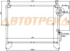 Радиатор кондиционера SSANGYONG REXTON I 02-