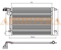 Радиатор кондиционера AUDI A1 10- / SEAT IBIZA 08- / SKODA FABIA 1.2T/1.6TD 07-/ VW POLO SEDAN/HBK
